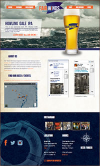 Fair Winds Brewing Website - Designed by DivingDog Creative Solutions